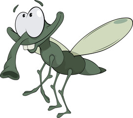 green insect cartoon