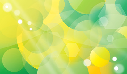 Bubble green - yellow background