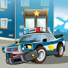 Wall Murals Cars The police car