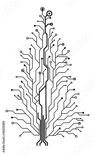 u0026quot electronic circuit christmas tree u0026quot  stock image and