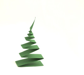 christmas tree from curled  paper strip