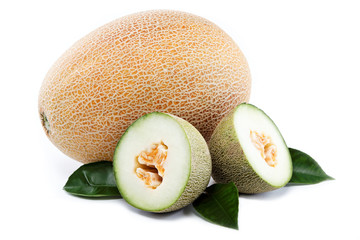 Melons on a white background