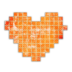 abstract heart made from squares