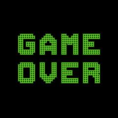 Fotobehang Pixel Pixel Game Over Message