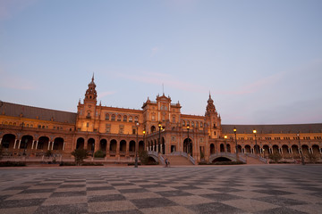 Fototapete - Plaza de Espana in Sevilla