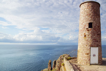 Fototapete - Panoramic view over Cap Frehel,  Brittany, France
