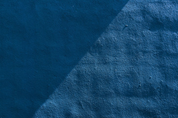 Blue Wall. Sunlight and Shadow