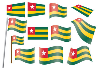 set of flags of Togo vector illustration