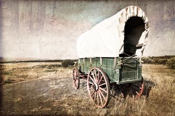Chariot western vintage Wall mural