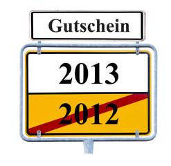 Gutschein für Jahreswechsel 2013