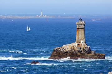 Wall Mural - Lighthouse on Cape Sizun, Pointe du Raz. Brittany, France