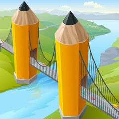 Children's  Pencil Golden Gate Bridge