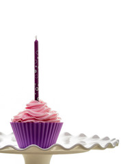 Happy Birthday Cupcake and candle