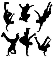 Break Dancers Silhouette