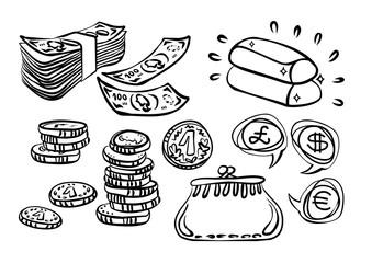 pieniądze złoto inwestycje ilustracja finansowa