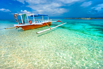 Printed kitchen splashbacks Indonesia Beautiful sea at Gili Meno, Indonesia.