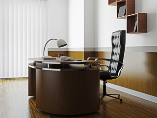 Office with furniture and window