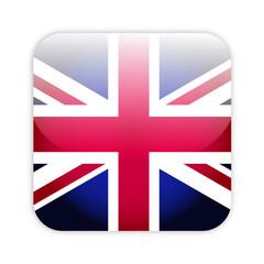 Great britain flag button