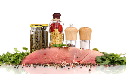 A large piece of pork marinated with herbs, spices and cooking