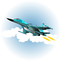 Aluminium Prints Military Fighter bomber