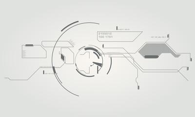high tech elements interface