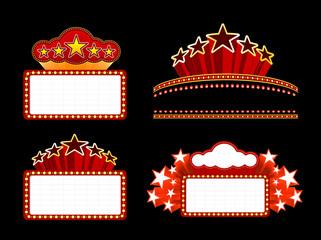 Retro illuminated Movie marquee Blank sign