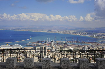 View point from Mount Carmel in Haifa