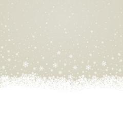 fall snowflake snow stars brown white background