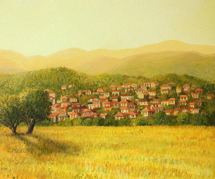 Golden Rural Scene