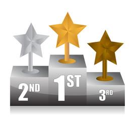 stars and podium