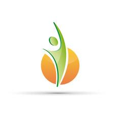 Vector Logo happy bio