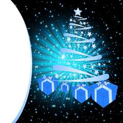 Beautiful christmas card with shine