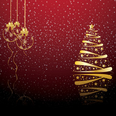 Beautiful winter christmas backdrop, background