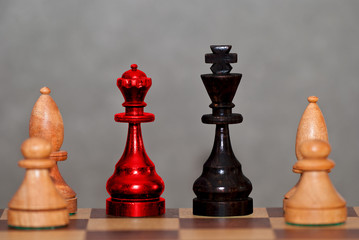 Große Koalition auf dem Schachbrett - fototapety na wymiar