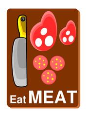 eat meat vector