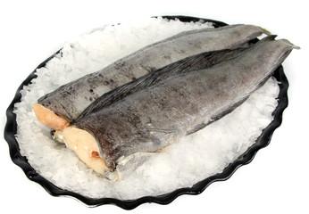 frozen cod (pallock) on ice