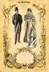 Wall Mural - Le mariage