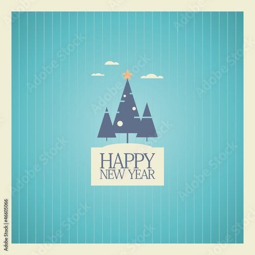 new year card design template