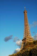 Vista della Tour Eiffel al tramonto, Parigi, Francia