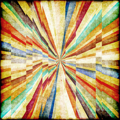 Fototapeten Illusion Multicolor Sunbeams grunge background