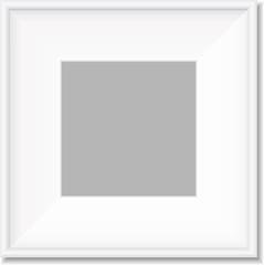 Simple white frame vector