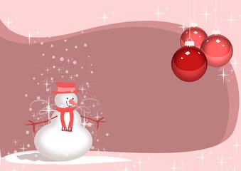 Merry Chreistmas snowman background