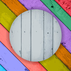 wooden planks on the Colorful Wooden Background