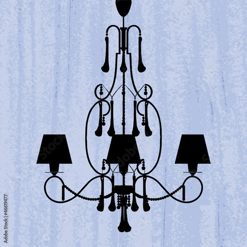 blue chandelier wallpaper-#32