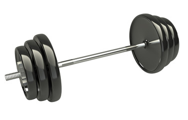 3d dumbbells isolated