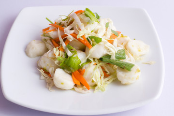 thai fish ball spicy salad