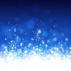 Blue Snowy Christmas