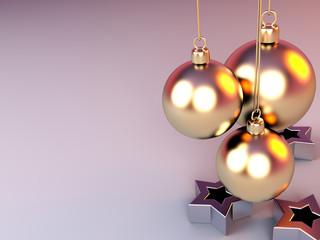 gold ball - christmas decoration