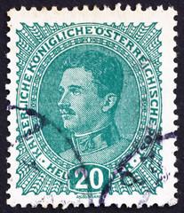 Postage stamp Austria 1918 Karl I, Emperor of Austria