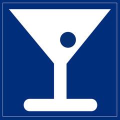 Papier Peint - Schild blau - Bar